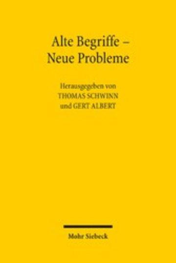 eBook Alte Begriffe - Neue Probleme Cover