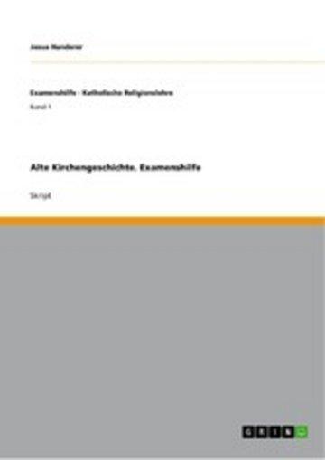 eBook Alte Kirchengeschichte. Examenshilfe Cover