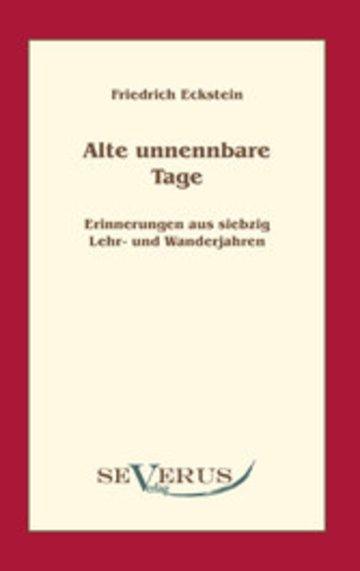 eBook Alte, unnennbare Tage Cover
