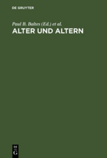 eBook Alter und Altern Cover