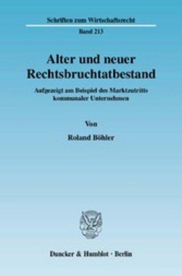 eBook Alter und neuer Rechtsbruchtatbestand. Cover