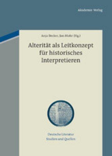 eBook Alterität als Leitkonzept für historisches Interpretieren Cover