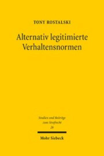 eBook Alternativ legitimierte Verhaltensnormen Cover