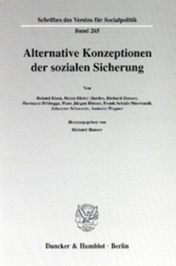 eBook Alternative Konzeptionen der sozialen Sicherung. Cover
