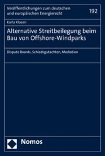eBook Alternative Streitbeilegung beim Bau von Offshore-Windparks Cover