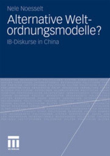 eBook Alternative Weltordnungsmodelle? Cover