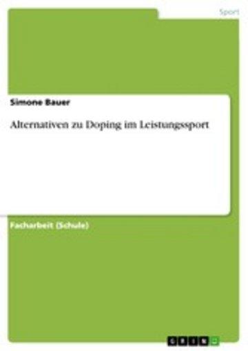 eBook Alternativen zu Doping im Leistungssport Cover