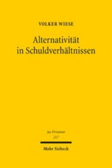 eBook Alternativität in Schuldverhältnissen Cover