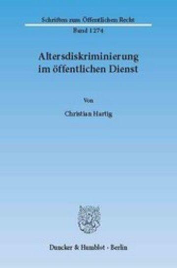 eBook Altersdiskriminierung im öffentlichen Dienst. Cover