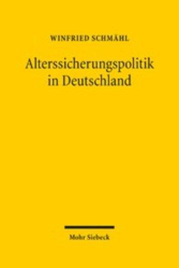 eBook Alterssicherungspolitik in Deutschland Cover