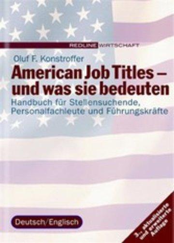 eBook American Job Titles - und was sie bedeuten Cover