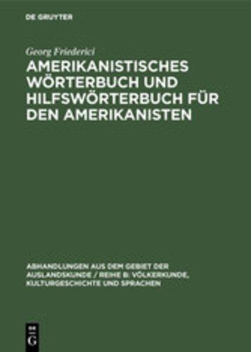 eBook Amerikanistisches Wörterbuch und Hilfswörterbuch für den Amerikanisten Cover
