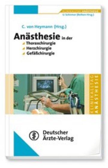 eBook Anästhesie in der Thoraxchirugie, Herzchirurgie, Gefäßchirurgie Cover