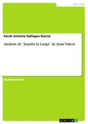eBook Análisis de 'Juanita la Larga' de Juan Valera Cover