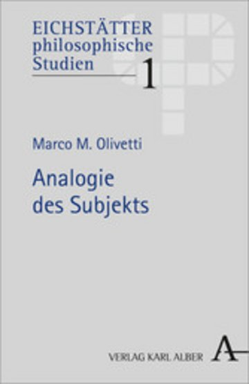 eBook Analogie des Subjekts Cover