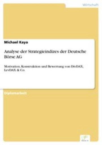 eBook Analyse der Strategieindizes der Deutsche Börse AG Cover