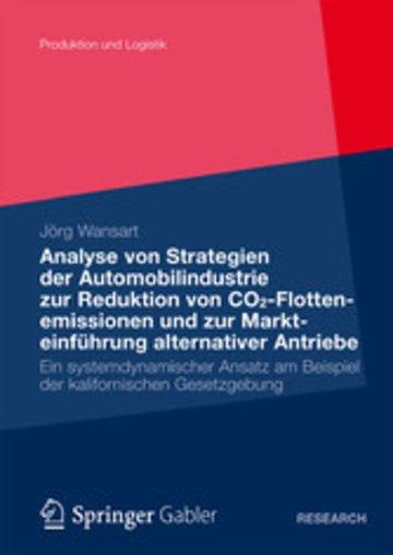 eBook Analyse von Strategien der Automobilindustrie zur Reduktion von CO2-Flottenemissionen und zur Markteinführung alternativer Antriebe Cover