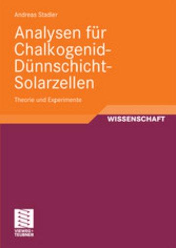 eBook Analysen für Chalkogenid-Dünnschicht-Solarzellen Cover
