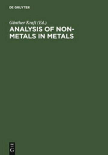 eBook Analysis of Non-Metals in Metals Cover