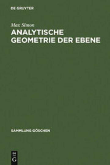 eBook Analytische Geometrie der Ebene Cover
