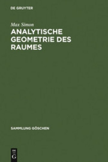 eBook Analytische Geometrie des Raumes Cover