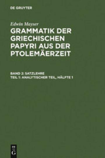 eBook Analytischer Teil, Hälfte 1 Cover