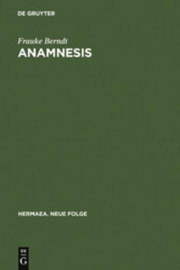 eBook Anamnesis Cover