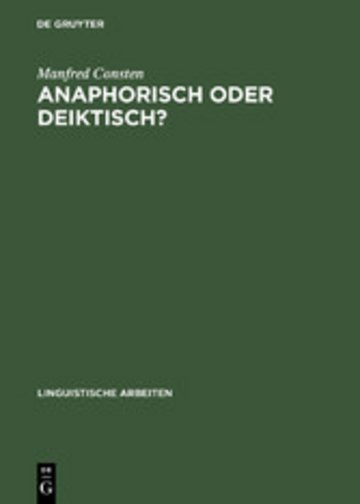 eBook Anaphorisch oder deiktisch? Cover