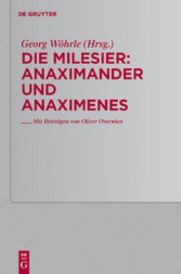 eBook Anaximander und Anaximenes Cover