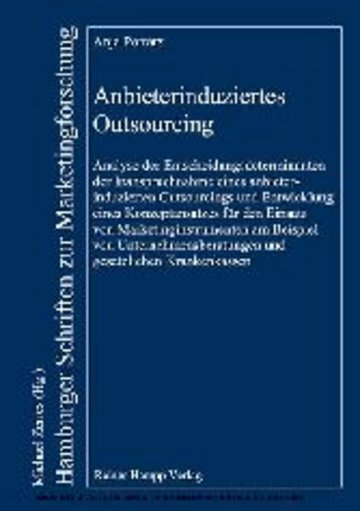eBook Anbieterinduziertes Outsourcing Cover