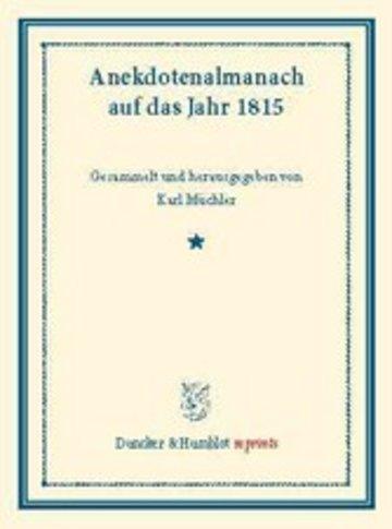 eBook Anekdotenalmanach auf das Jahr 1815. Cover