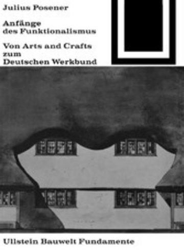 eBook Anfänge des Funktionalismus Cover