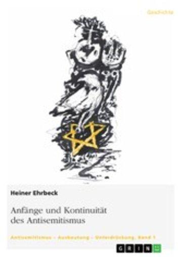 eBook Anfänge und Kontinuität des Antisemitismus Cover