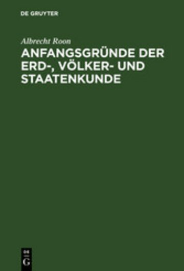 eBook Anfangsgründe der Erd-, Völker- und Staatenkunde Cover