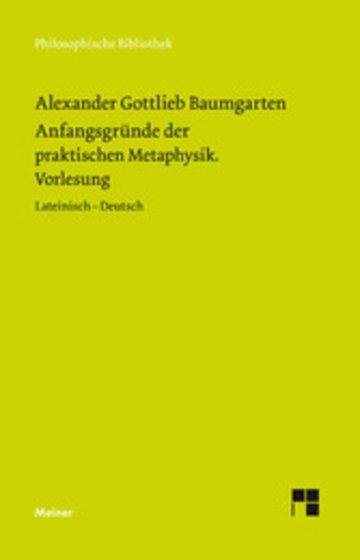 eBook Anfangsgründe der praktischen Metaphysik Cover