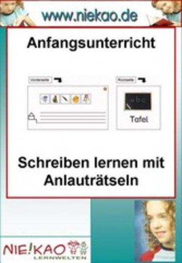 eBook Anfangsunterricht - Schreiben lernen mit Anlauträtseln Cover