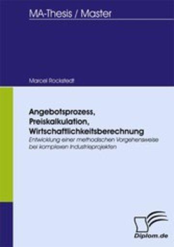 eBook Angebotsprozess, Preiskalkulation, Wirtschaftlichkeitsberechnung Cover