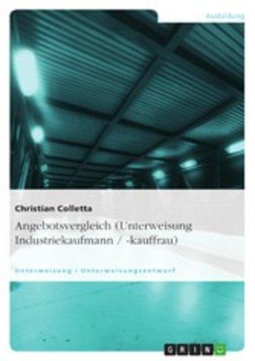 eBook Angebotsvergleich (Unterweisung Industriekaufmann / -kauffrau) Cover