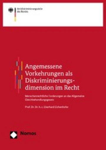 eBook Angemessene Vorkehrungen als Diskriminierungsdimension im Recht Cover