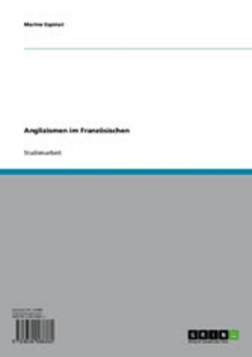eBook Anglizismen im Französischen Cover