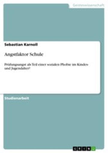 eBook Angstfaktor Schule Cover