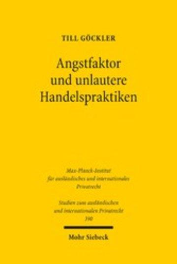 eBook Angstfaktor und unlautere Handelspraktiken Cover