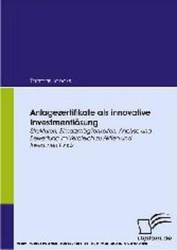 eBook Anlagezertifikate als innovative Investmentlösung Cover