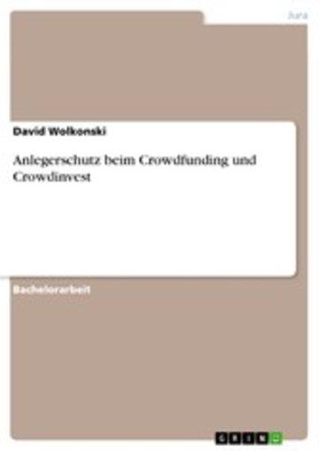 eBook Anlegerschutz beim Crowdfunding und Crowdinvest Cover