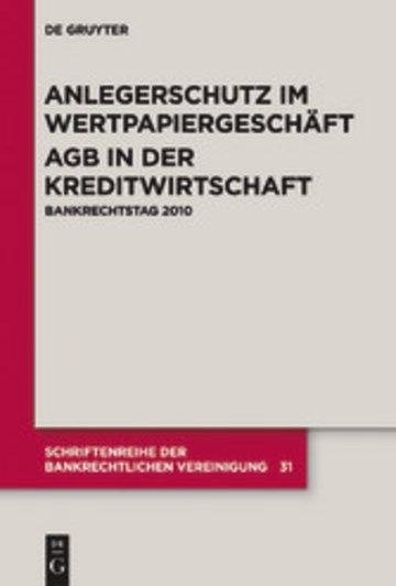 eBook Anlegerschutz im Wertpapiergeschäft. AGB in der Kreditwirtschaft Cover