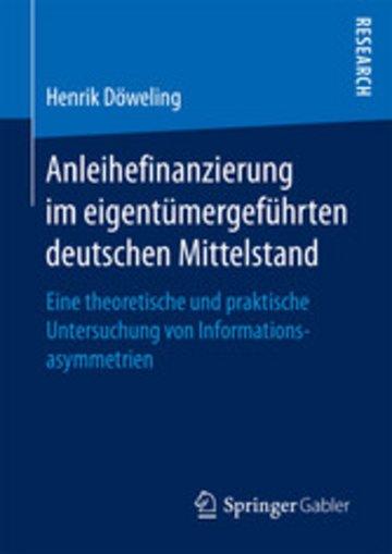 eBook Anleihefinanzierung im eigentümergeführten deutschen Mittelstand Cover