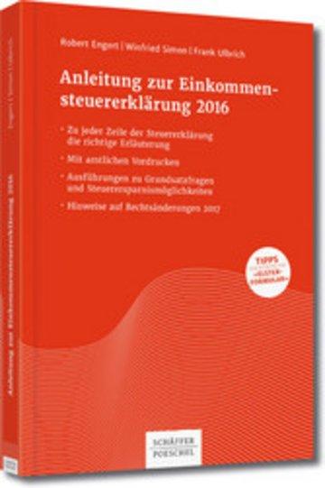 eBook Anleitung zur Einkommensteuererklärung 2016 Cover