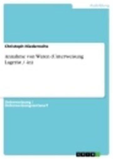 eBook Annahme von Waren (Unterweisung Lagerist / -in) Cover