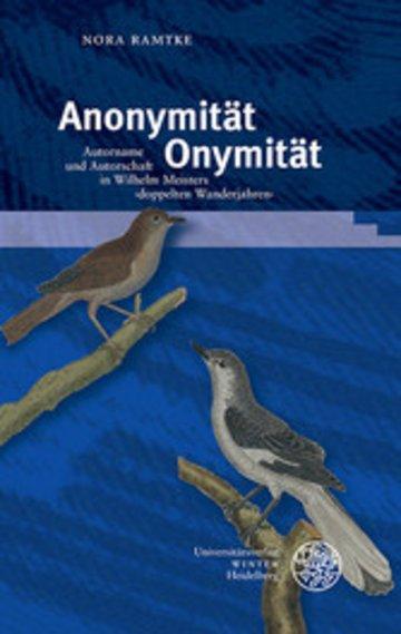 eBook Anonymität - Onymität Cover
