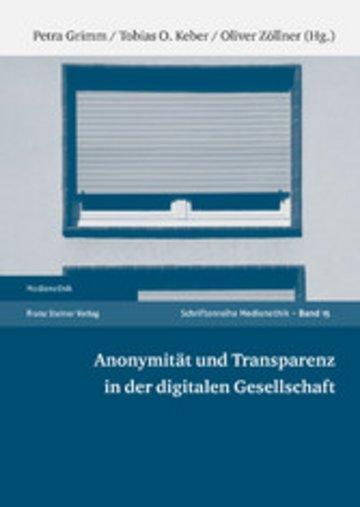 eBook Anonymität und Transparenz in der digitalen Gesellschaft Cover
